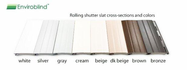 Enviroblind rolling shutter slat cross section color samples